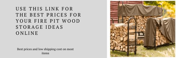 Fire pit wood storage ideas