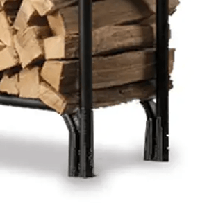 Firewood Rack with Cover-Leg details of a wood rack