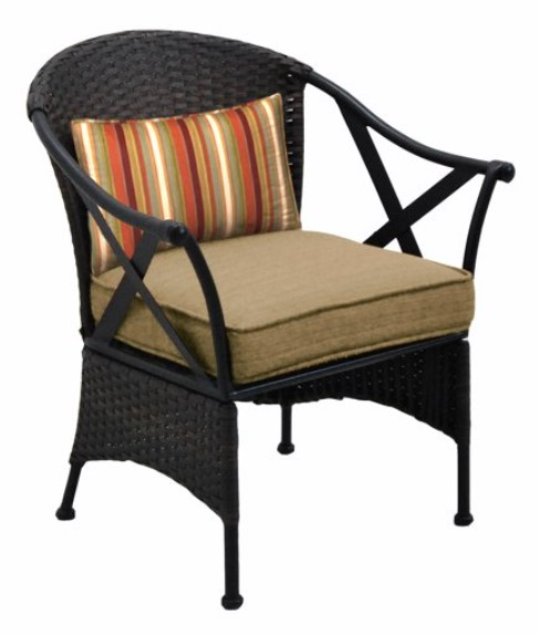 Outdoor Bistro Set with Ottoman-Skylar Glen chair