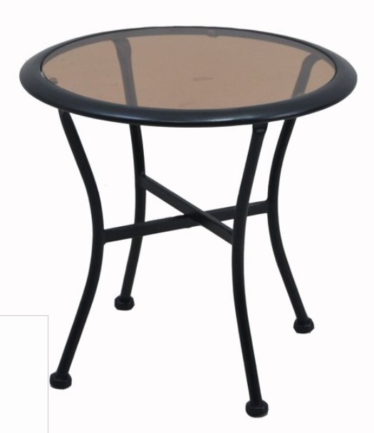 Outdoor Bistro Set with Ottoman-Skylar Glen side table