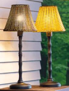 Wicker Tabletop Lamp