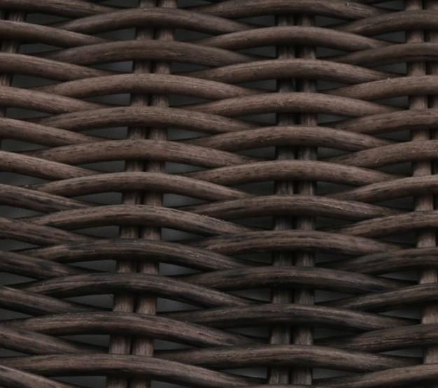 Resin Wicker Porch Swing-Camrose Farmhouse dark brown resin wicker