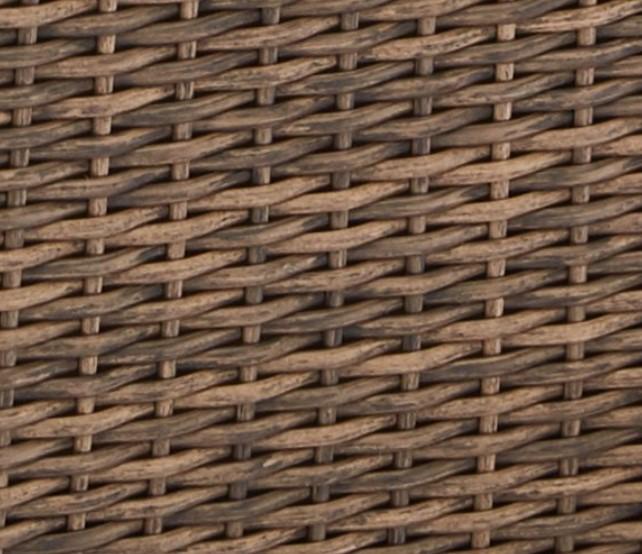 Resin Wicker Porch Swing-Camrose Farmhouse light brown color