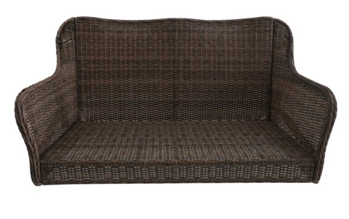 Resin Wicker Porch Swing-Camrose Farmhouse swing without cushions