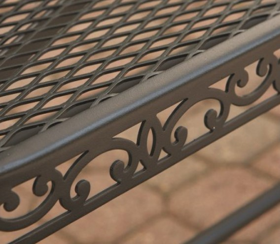 Black Wrought Iron Patio Furniture-Clayton Court scroll design