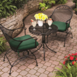 Clayton Court set with green cushions