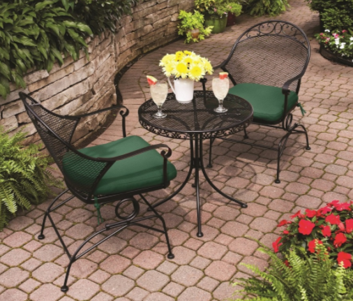 Better Homes and Gardens Clayton Court Black Wrought Iron Patio Furniture Review