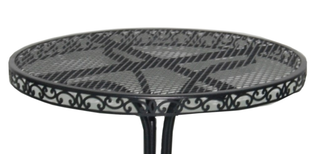 Black Wrought Iron Patio Furniture-Table top
