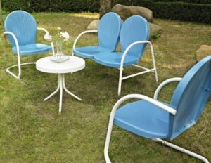 Crosley Griffith conversation set in blue