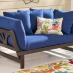 Delahey Daybed with Blue cushions