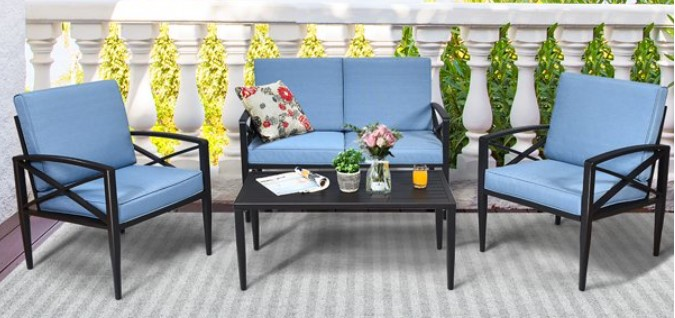 Goplus Patio Furniture with Cushions Review