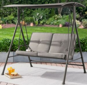 Mainstays Holten Ridge swing with cushions