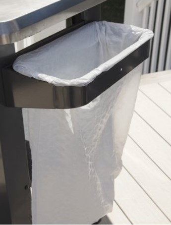 BBQ Prep Table-Cuisinart trash bag holder