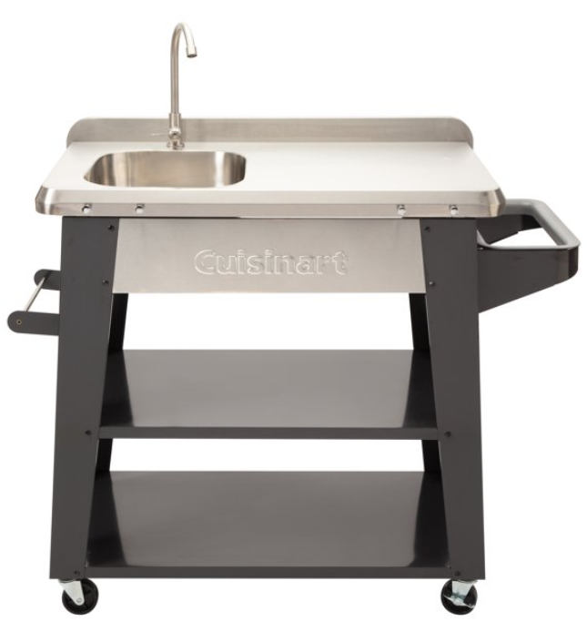 BBQ Prep Table-Cuisinart rolling sink and prep table