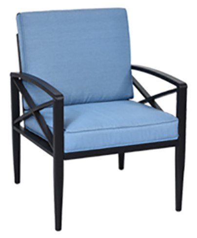 Patio Furniture with Cushions-Goplus aluminum chair with light blue cushions
