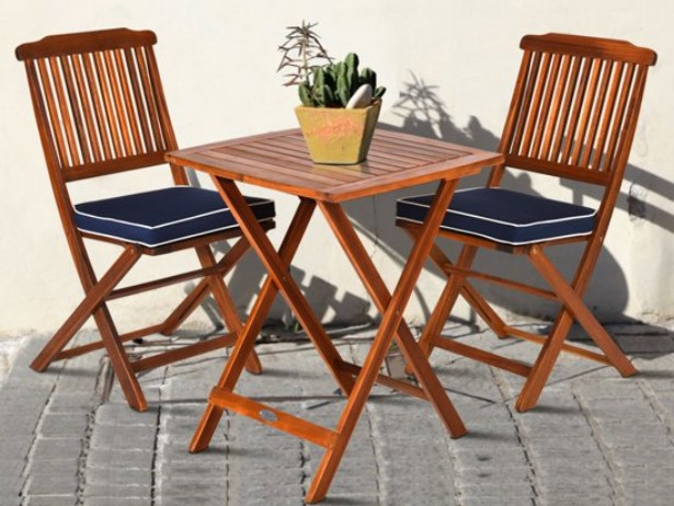 Goplus bistro set with cushions