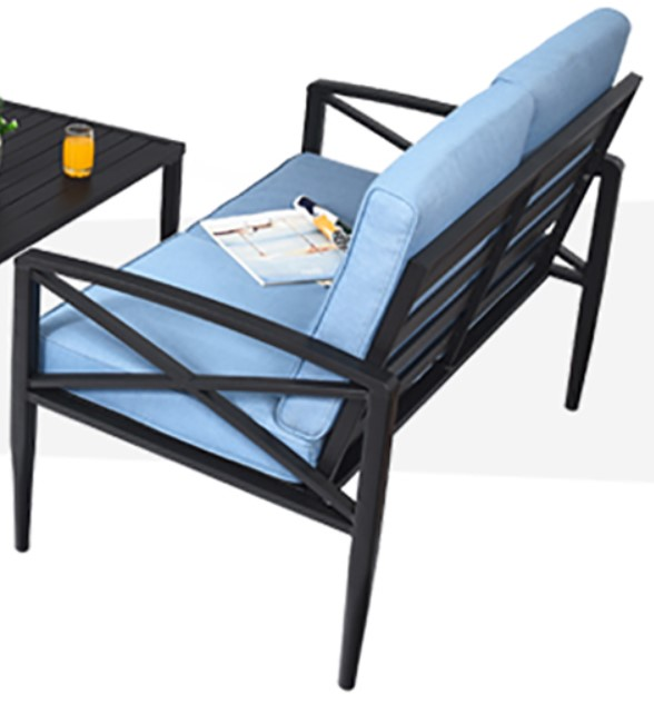 Patio Furniture with Cushions-Goplus  love seat