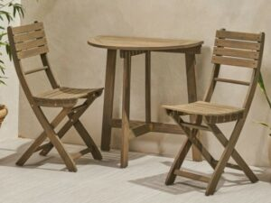 Jude half round folding table with chairs