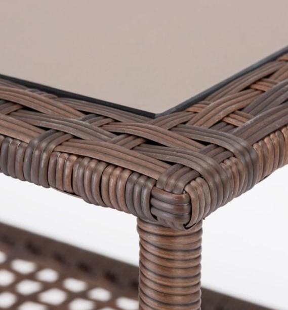 Wicker Patio Conversation Set-Mainstays Tuscany Ridge coffee table glass insert