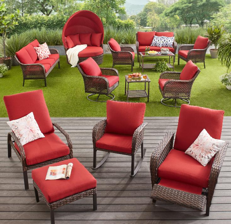 Wicker Patio Conversation Set-Mainstays Tuscany Ridge collection of patio furniture