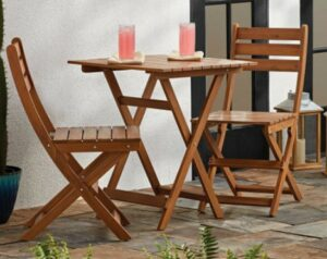 Mainstays wood bistro set