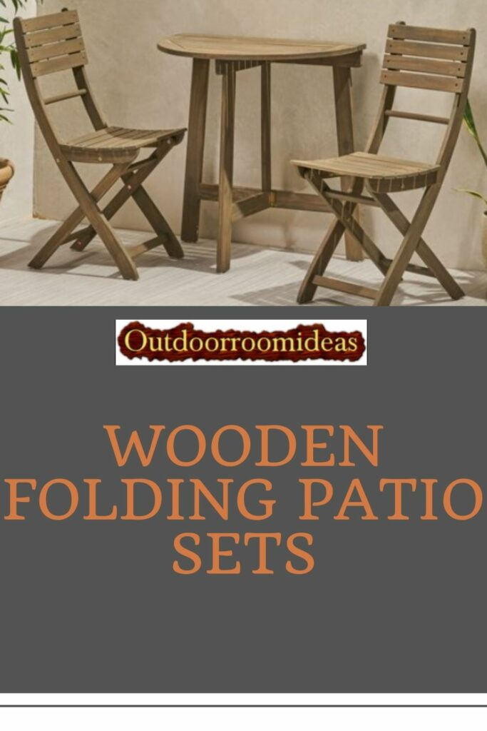 Wooden Folding Patio Sets