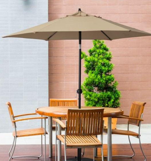 4 styles of 9 ft patio umbrella for tables