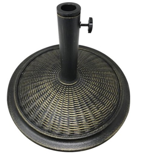 Cement with resin cover umbrella stand