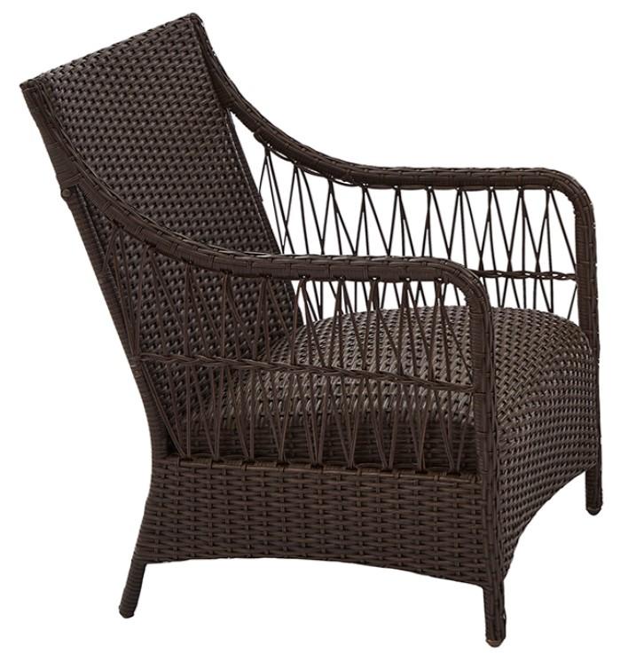 3 Piece Wicker Patio Set-Hartwell bay Chair side