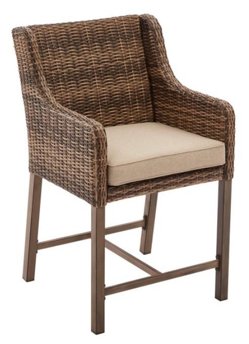 Bar Height Patio Furniture Set-Hawthorne Park high bistro chair