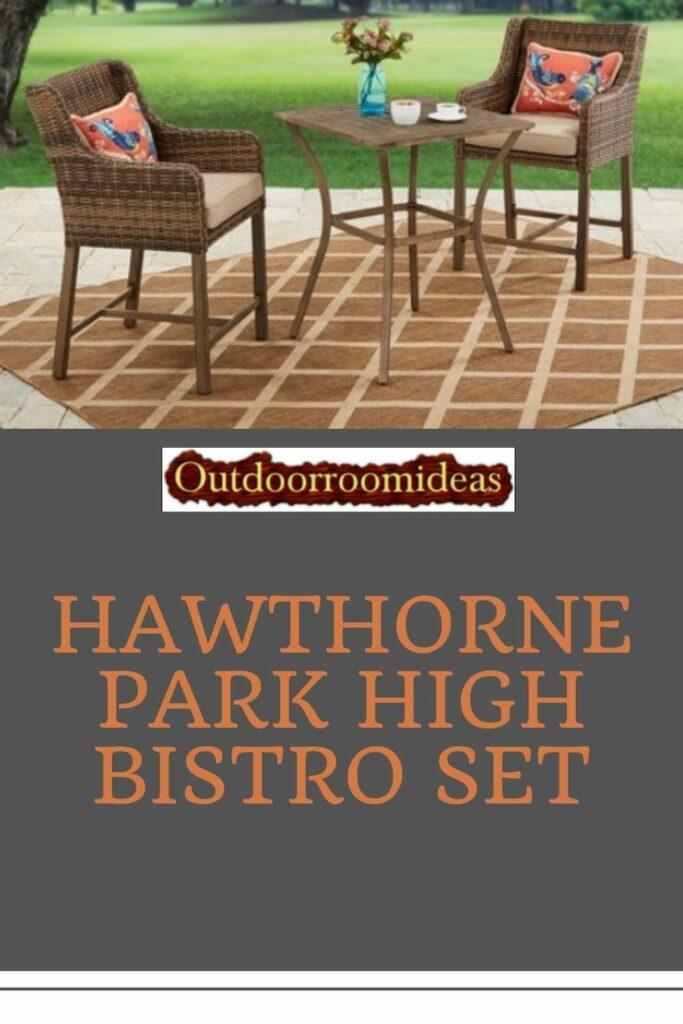 Hawthorne Park high bistro set