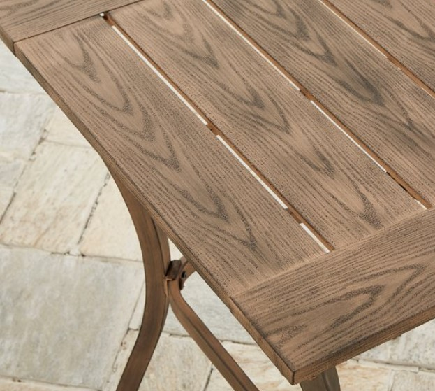 Bar height Patio Furniture Set-Hawthorne Park high bistro tabletop details