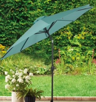 9 ft patio umbrella-Mainstays umbrella in Aqua