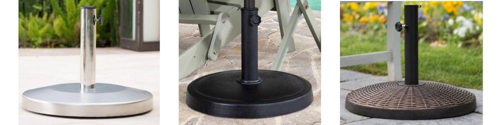 Patio Umbrella Stand Base-Metal umbrella base