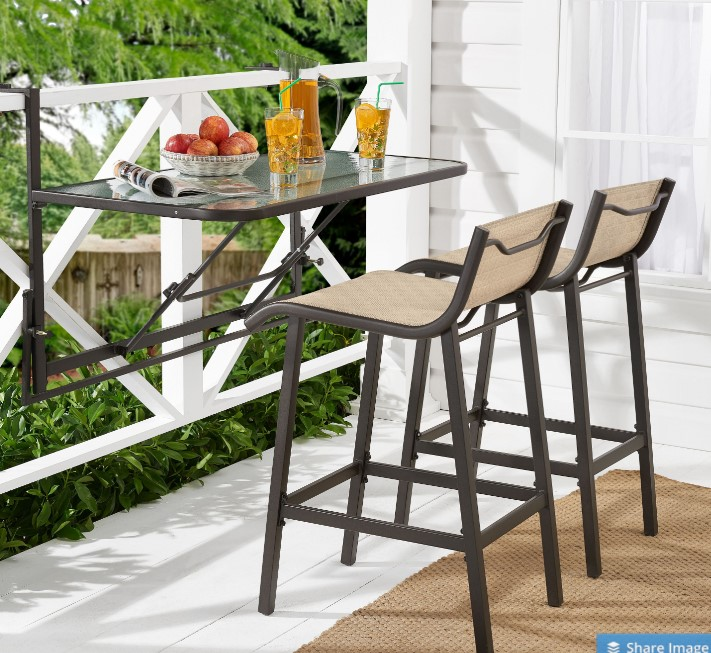 Mainstays Sand Dune Bar Height Patio Furniture Set Review