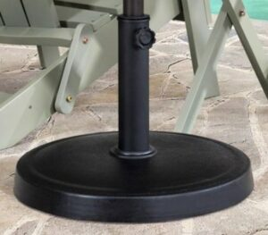 Sunjoy black steel umbrella stand