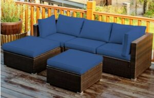Goplus 5-Piece Sectional Seating