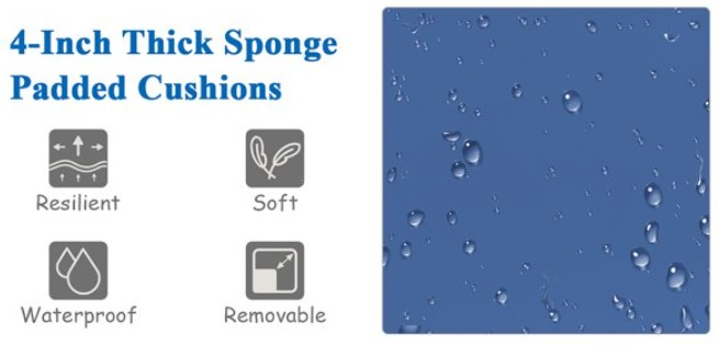 Wicker Patio Sofa Set-Goplus cushion details