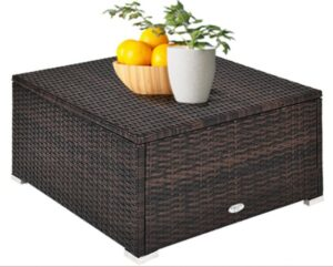 Goplus sectional ottoman without cushion