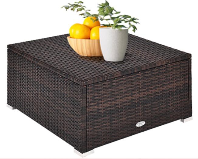 Wicker Patio Sofa Set-Goplus sectional ottoman without cushion