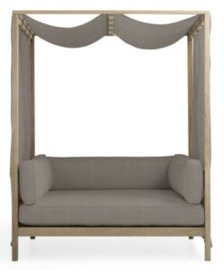 Hamptons Daybed with canvas Taupe fabric