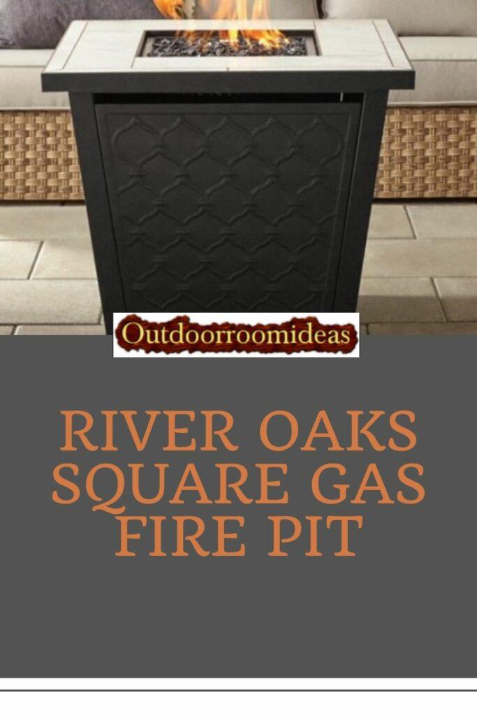 River Oaks gas fire pit