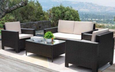 VINEEGO All Weather Wicker Patio Furniture Conversation Set