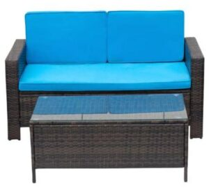 Vineego love seat and coffee table