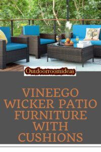 Vineego wicker patio furniture