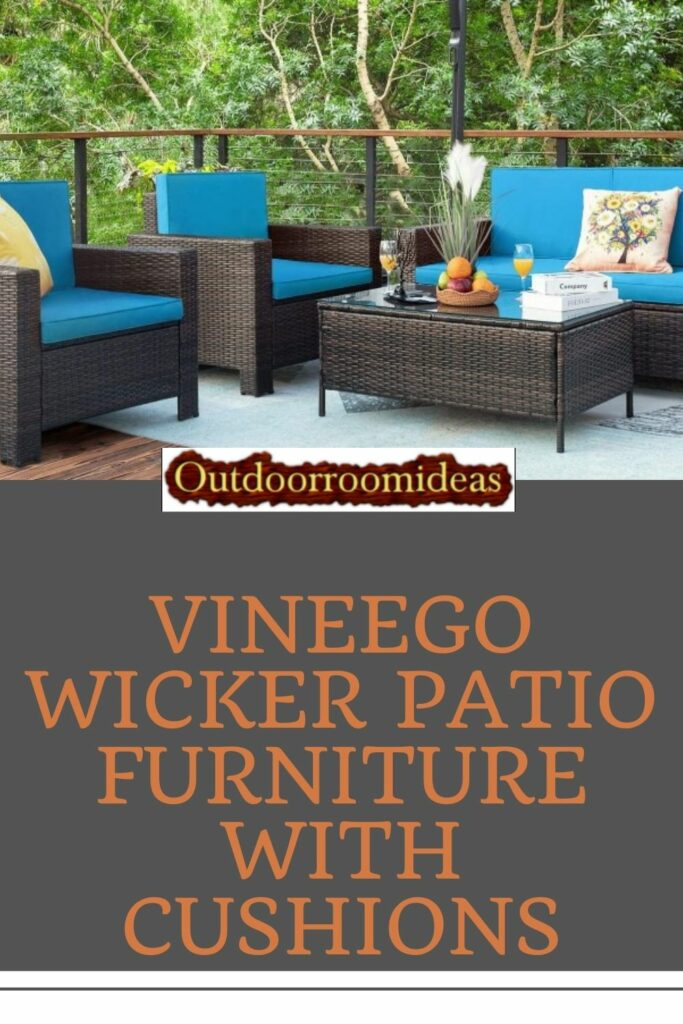 Vineego wicker patio furniture