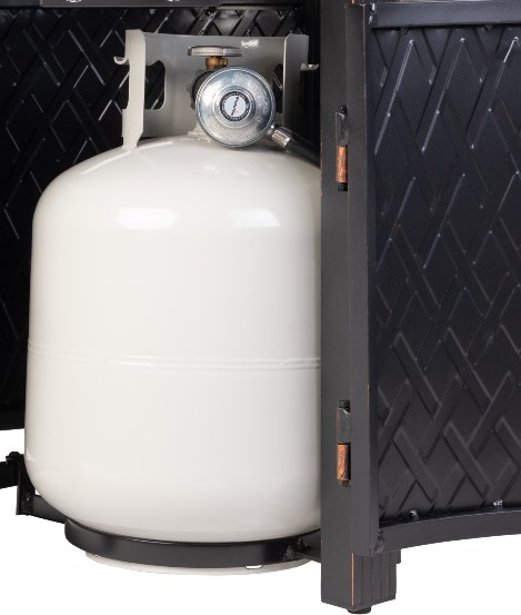 Fire Sense Wagner propane tank installed