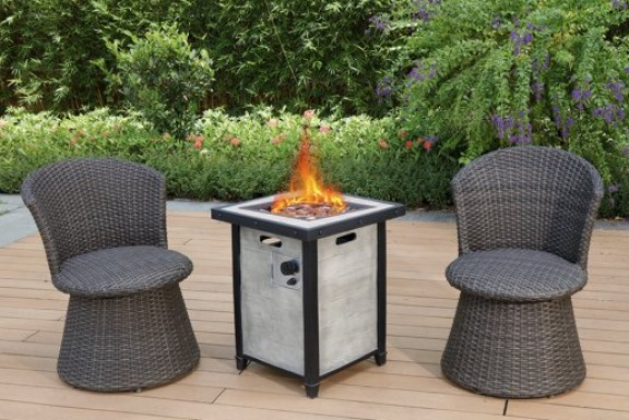 Modern Depot chat set with fire pit