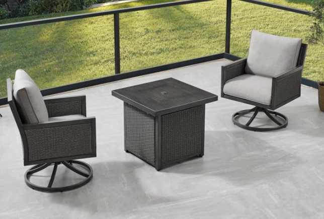 Ove Decors Lambert chat set with fire pit