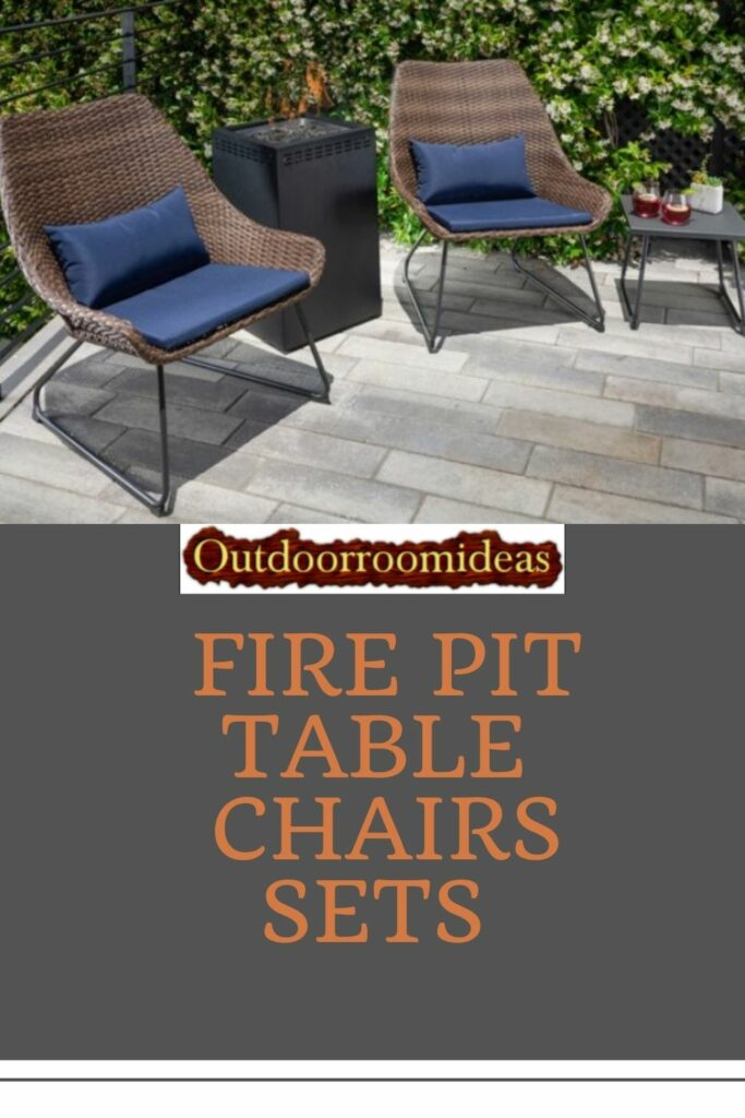 Fire Pit table chairs Set